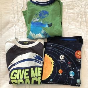 3 long sleeve tees size small (5-6)